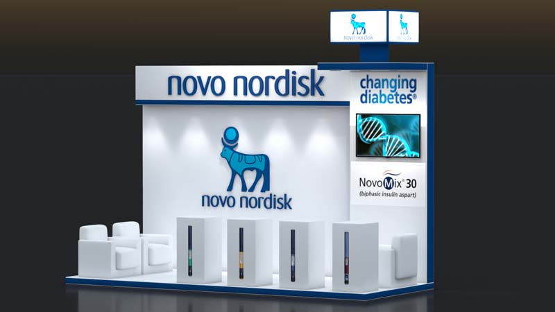Exhibition Stall Pictures : Novo nodisk exhibition stall u live production u leader in event