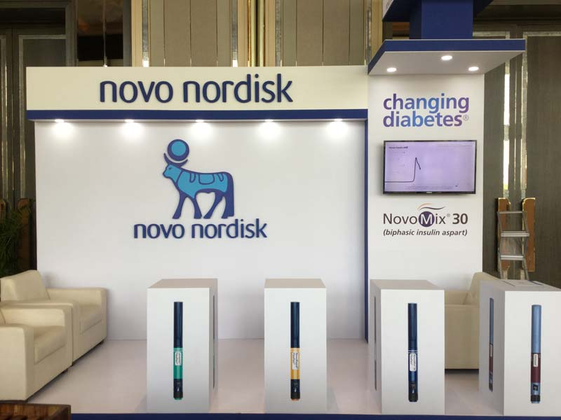 Exhibition Stall Photo : Novo nodisk exhibition stall u2013 live production u2013 leader in event