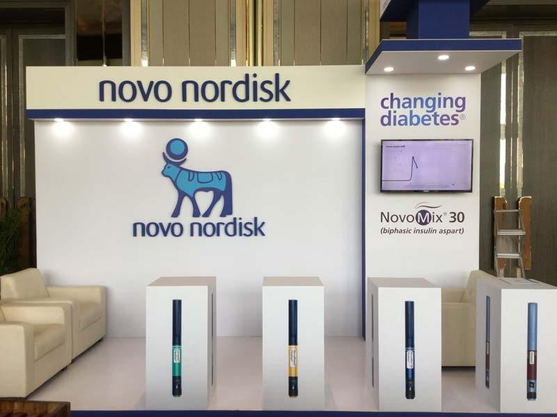 Exhibition Stalls : Novo nodisk exhibition stall u live production u leader in